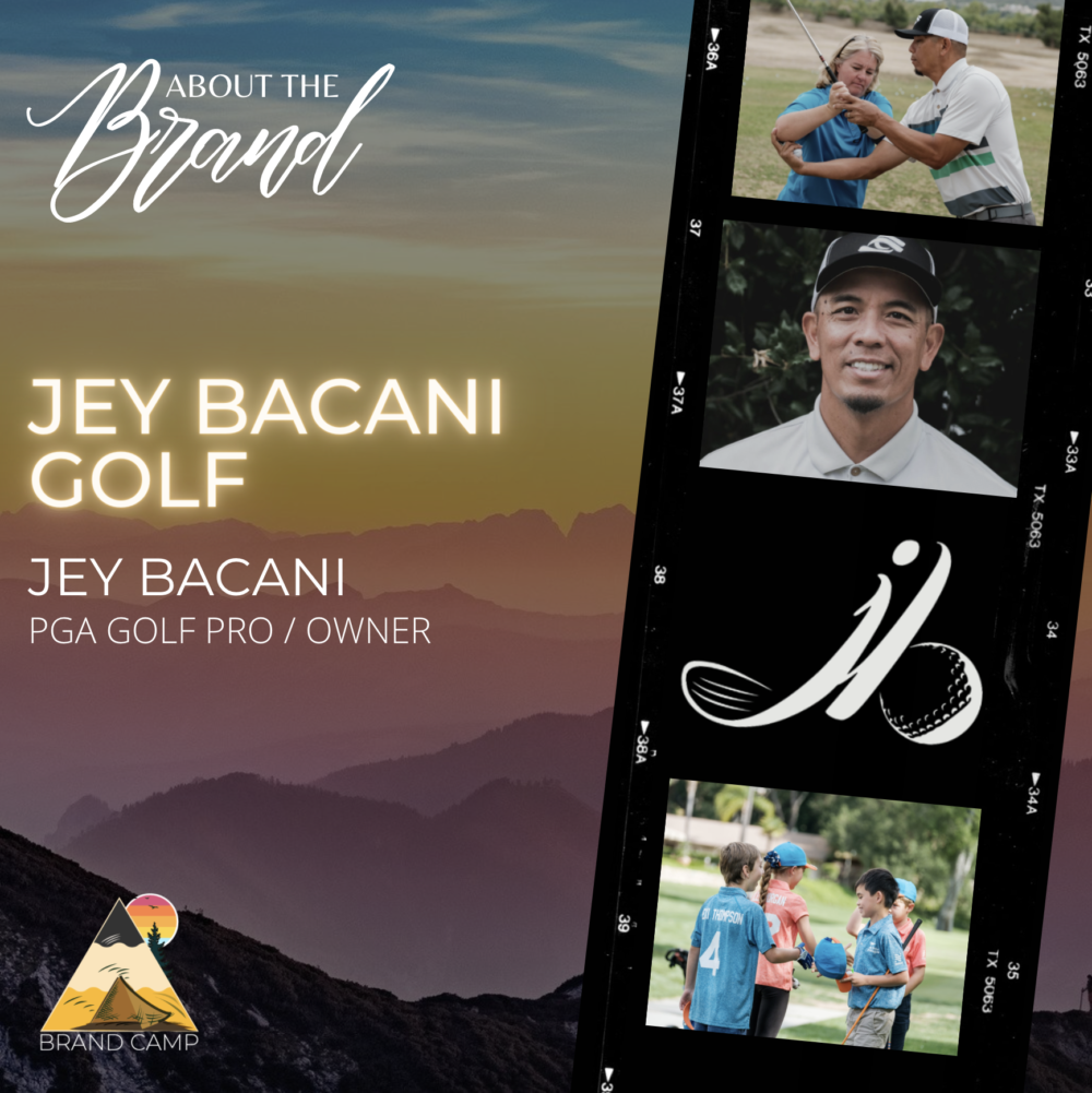 about the brand - jey bacani golf